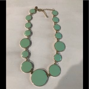 Charming Charlie statement necklace•mint and gold